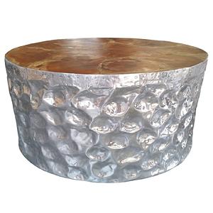 Aluminium Teak Root Table