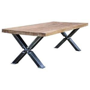 Industrial Teak Dining Table