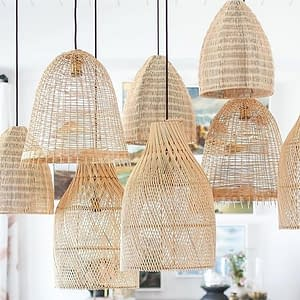 Bali Lighting Rattan Cane Wicker Bamboo