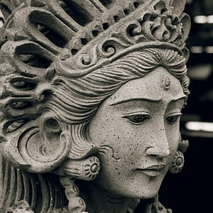 Bali carved statues