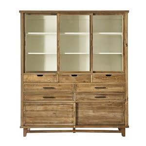 Bali Teak Hutch Display Dresser