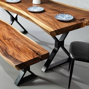 Bali Suar Bench and Dining Table