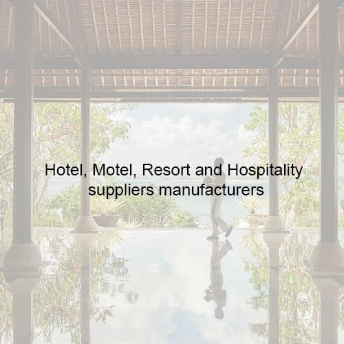 Bali Hotel Motel Resort and Hospitality suppliers manufacturers