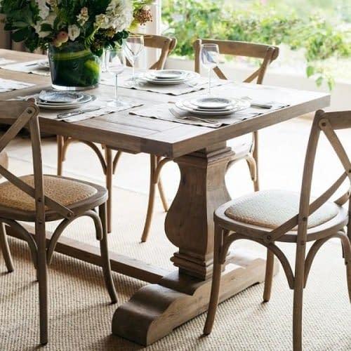 Teak Pedastal Table French