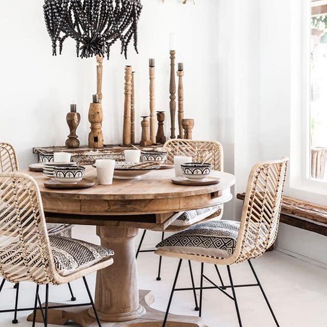 Bali Indonesia Rattan and Steel Bistro Chairs, Furniture