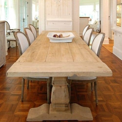 French Provincial Teak Distressed Table