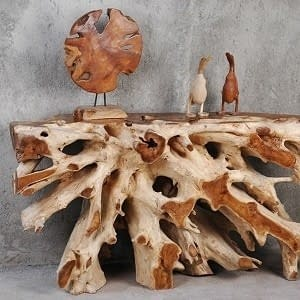 Indonesian Teak Root Tables, Chairs, Furniture