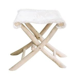 Bali Goat Skin and Branch Stools