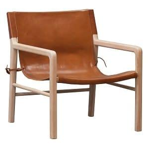 Teak and leather safari Chair Small