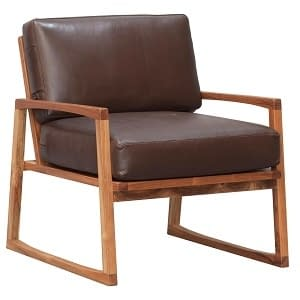 Retro Teak and Leather Chair Large