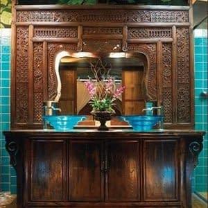 Bali Carved Antique Mirror