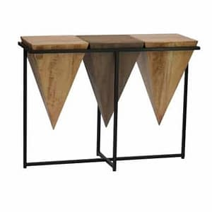 Pyramid Suar Console Table