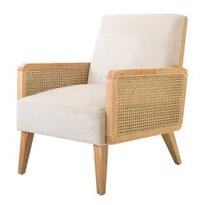 Teak and Rattan Scandinavian Chair