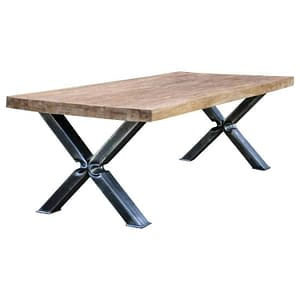 Industrial Teak Dining Table