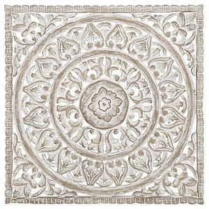 Carved Bali Mandala Wall Panel