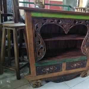 Bali Antique Carved Cabinet