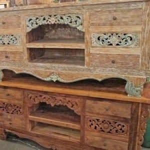 Javanese Carved Sideboard Antique