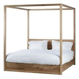 Rustic Teak Four Poster Bed
