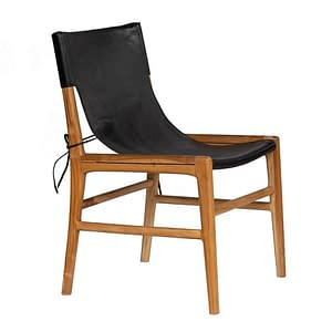 Bali Teak and Leather Safari Chair