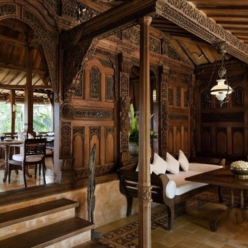 Indonesian Antique Carved Furniture, Door, Fittings