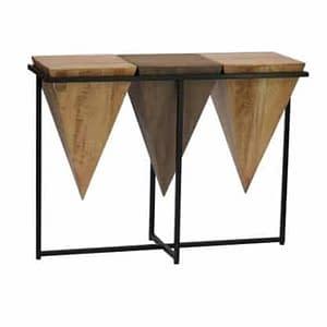 Pyramid Suar Console Table