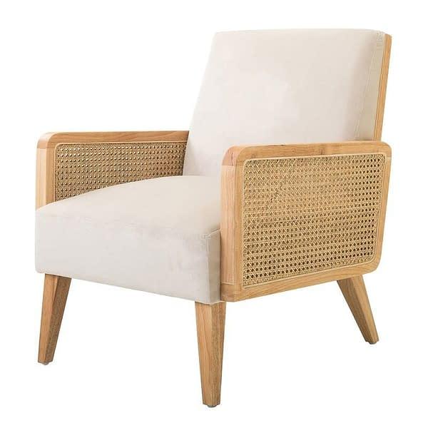 Teak and Rattan Scandinavian Chair