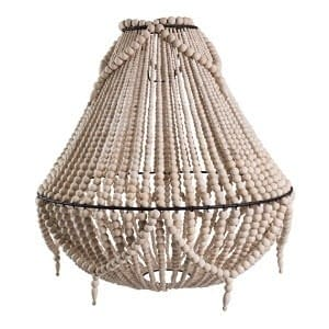 Bali Wood Hanging Chandelier
