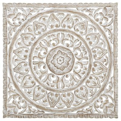 Carved Bali Mandala Wall Panel