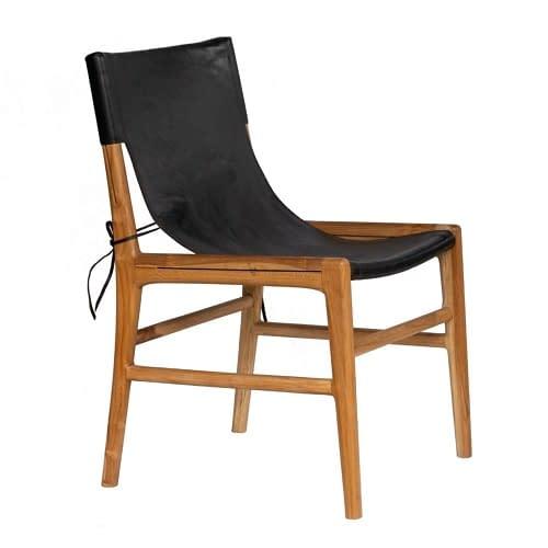 Bali Teak and Leather Safari Chair