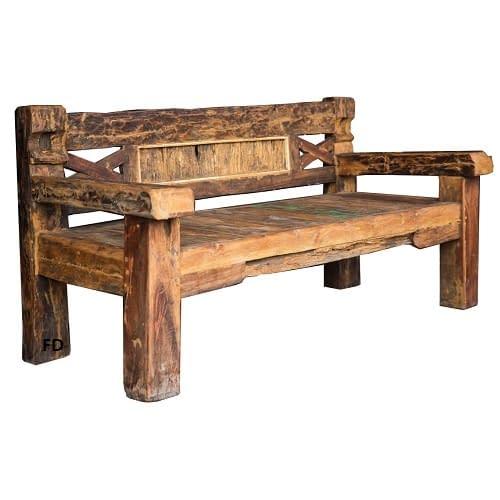 Bali Primitive Antique Bench