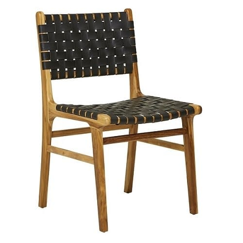 Teak and Leather Dining Chair