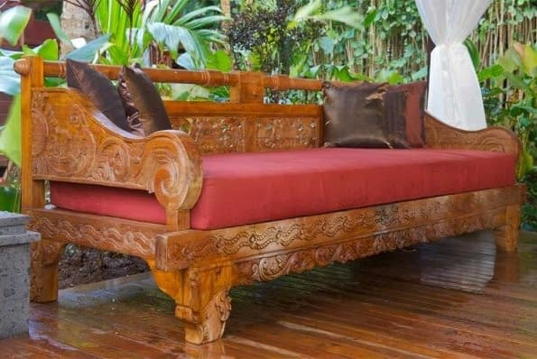 Bali Antique Carved Bench