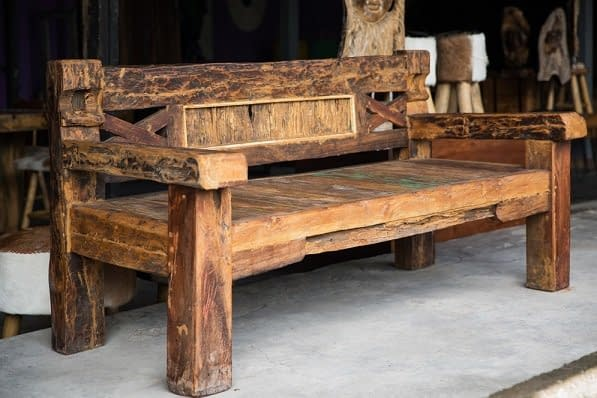 Bali Antique Rustic Bench